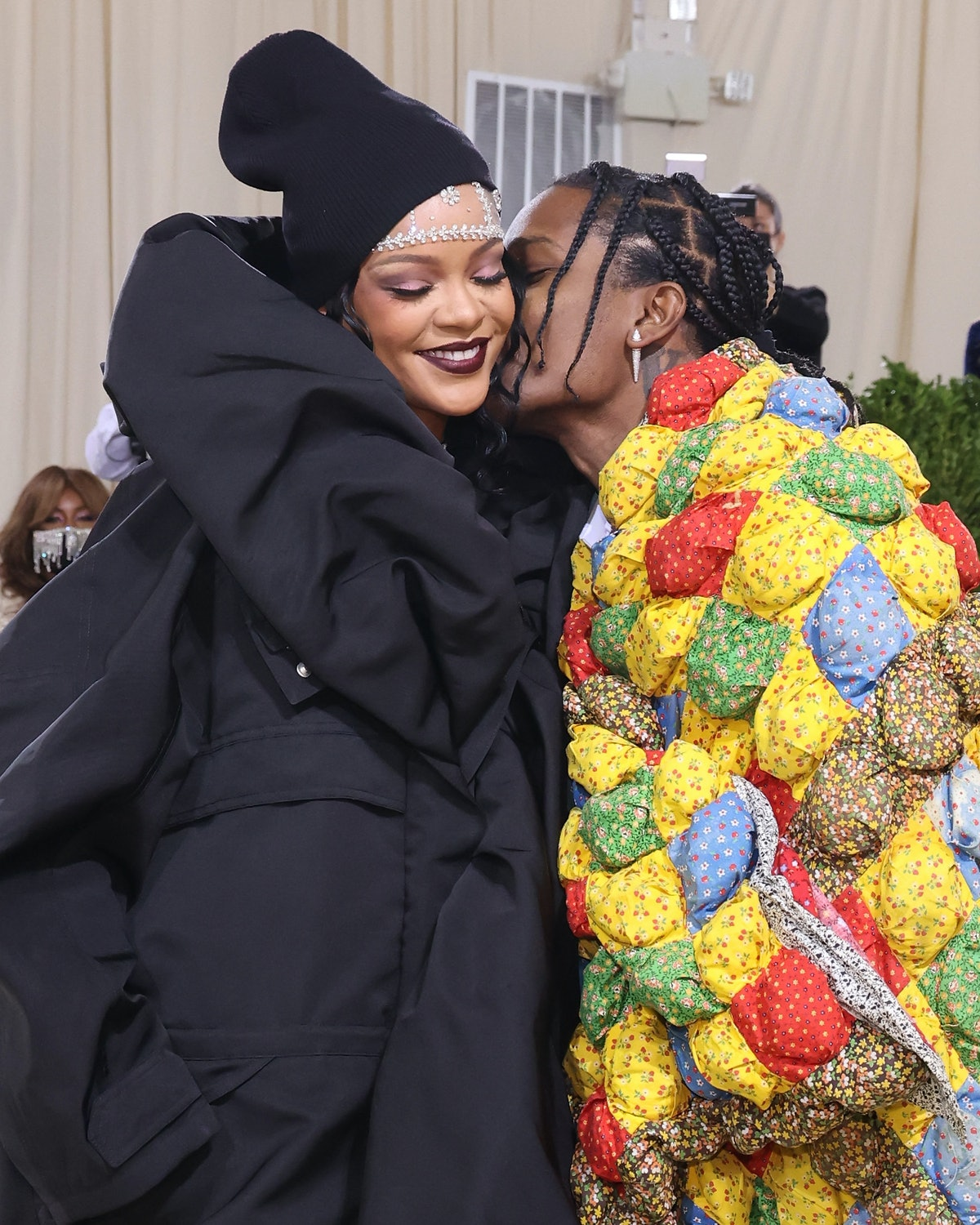 """NEW YORK, NEW YORK - SEPTEMBER 13: Rihanna and ASAP Rocky attend the 2021 Met Gala benefit """"In Ameri..."""