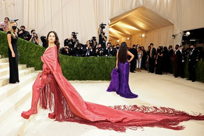 NEW YORK, NEW YORK - SEPTEMBER 13: Rosalía attends The 2021 Met Gala Celebrating In America: A Lexic...