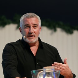 BIRMINGHAM, UNITED KINGDOM - DECEMBER 01:  Paul Hollywood cooking in the Big Kitchen at the BBC Good...
