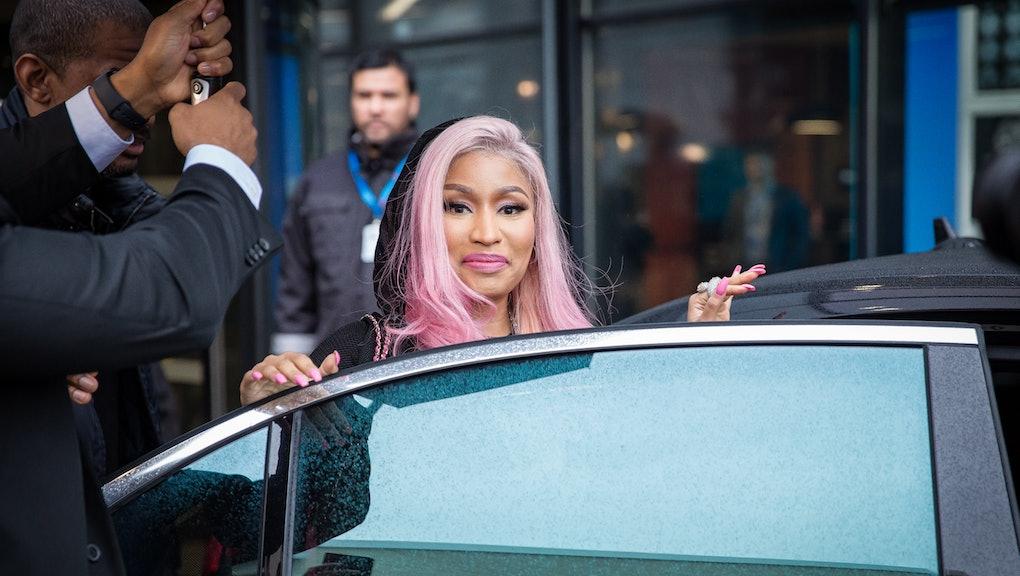 Norway, Oslo - March 4, 2019. Nicki Minaj, the American rapper and lyricist seen outside the Tidal o...