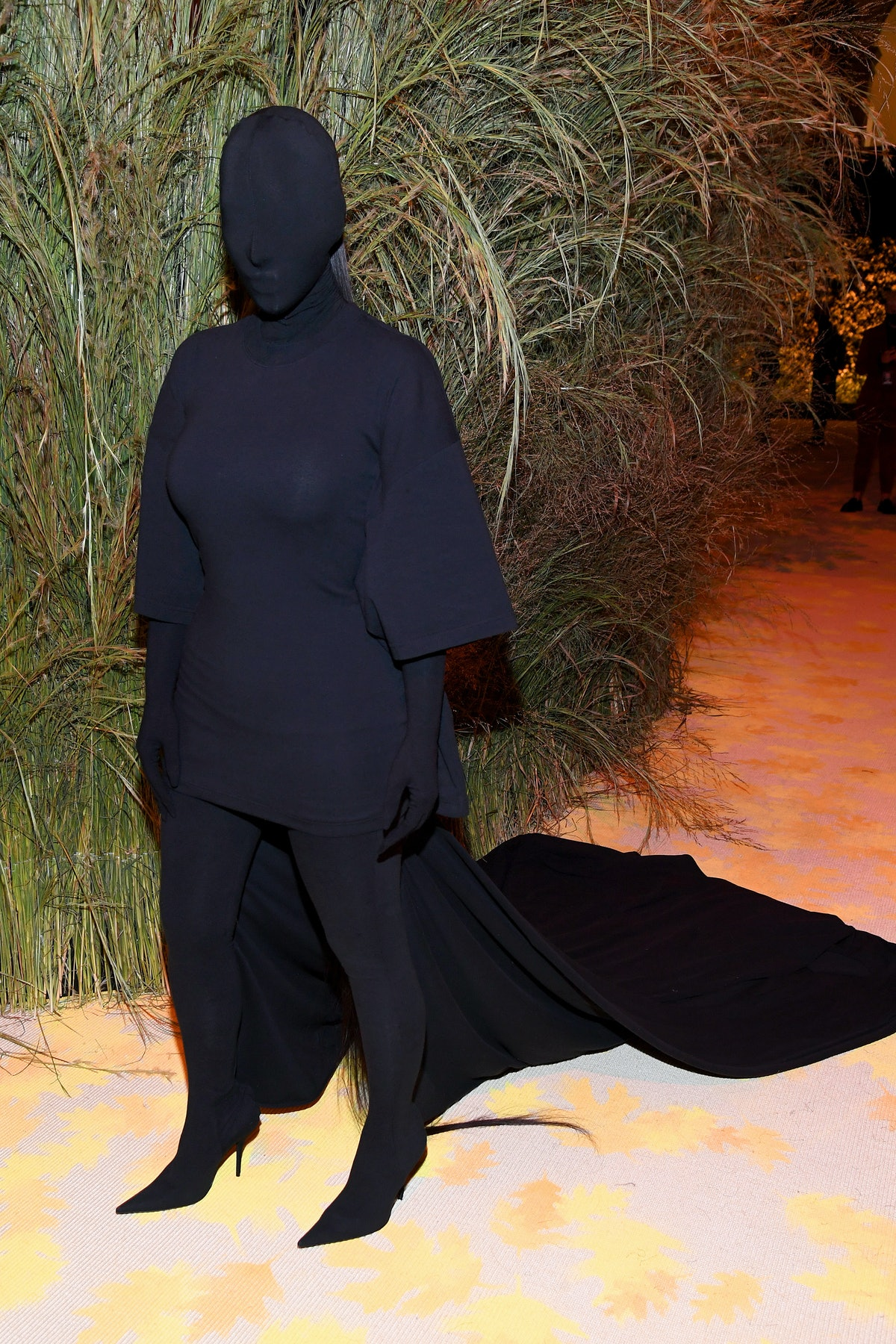 Kim Kardashian attends The 2021 Met Gala.