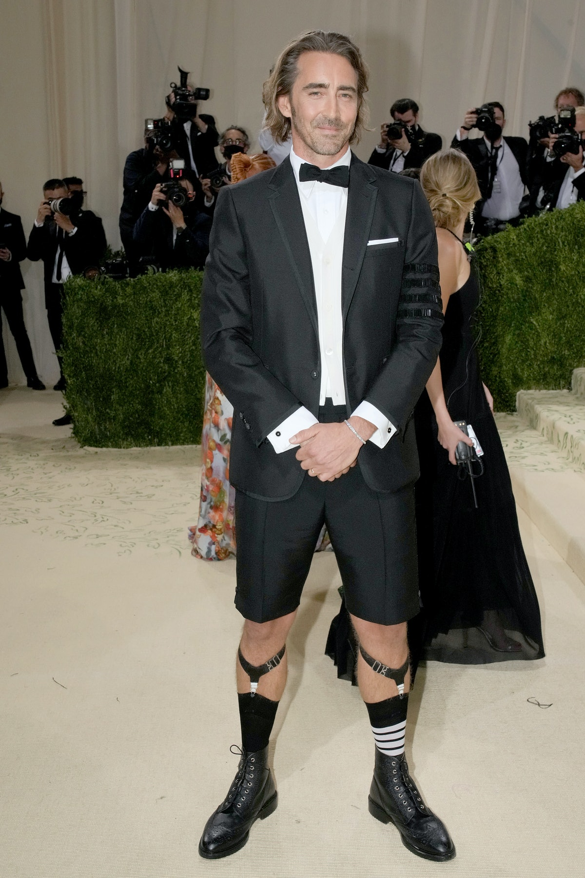 NEW YORK, NEW YORK - SEPTEMBER 13: Actor Lee Pace attends The 2021 Met Gala Celebrating In America: ...
