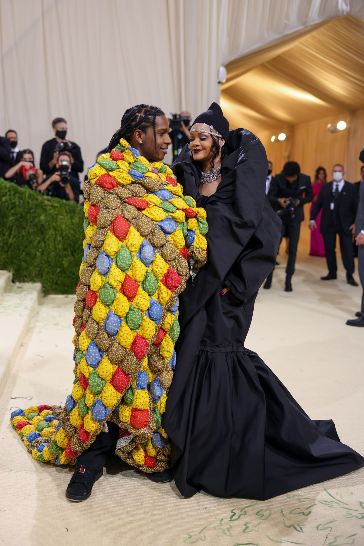 Rihanna and ASAP Rocky's Met Gala body language is full of close, intimate moments.