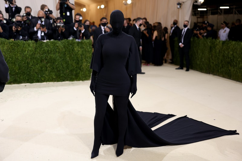 Kim Kardashian's 2021 Met Gala look, with an entirely covered face, is like a funeral version of her...