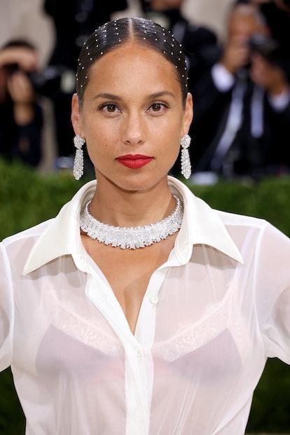 NEW YORK, NEW YORK - SEPTEMBER 13: Alicia Keys attends The 2021 Met Gala Celebrating In America: A L...