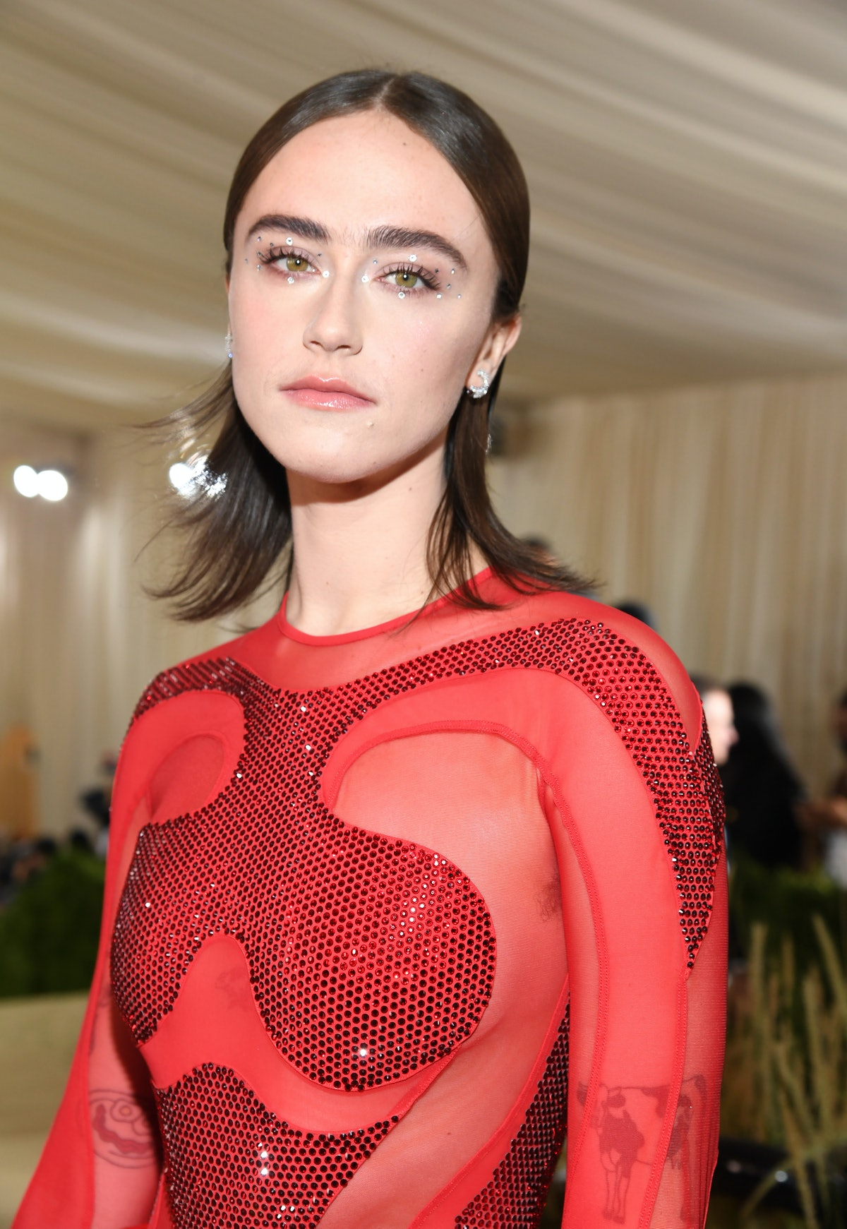 NEW YORK, NEW YORK - SEPTEMBER 13: Ella Emhoff attends The 2021 Met Gala Celebrating In America: A L...
