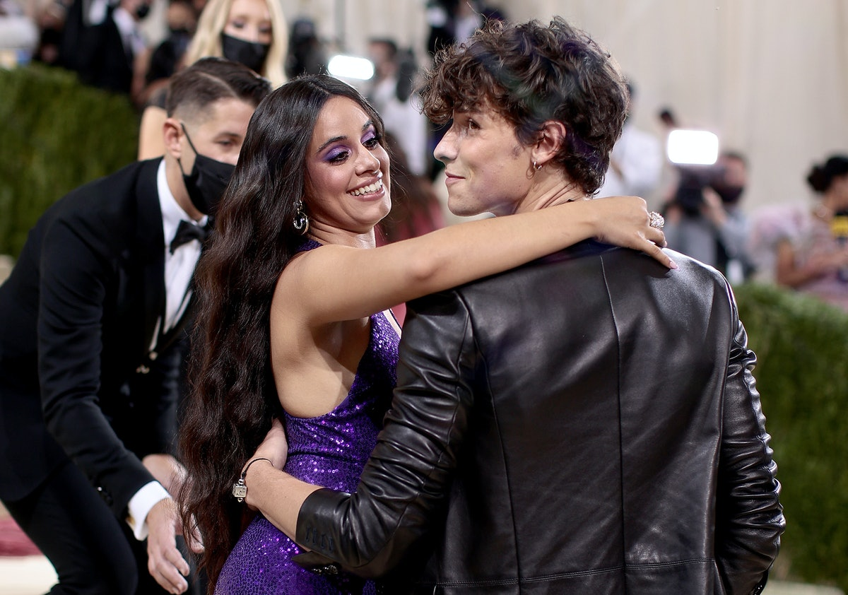 NEW YORK, NEW YORK - SEPTEMBER 13: Camila Cabello and Shawn Mendes attend The 2021 Met Gala Celebrat...
