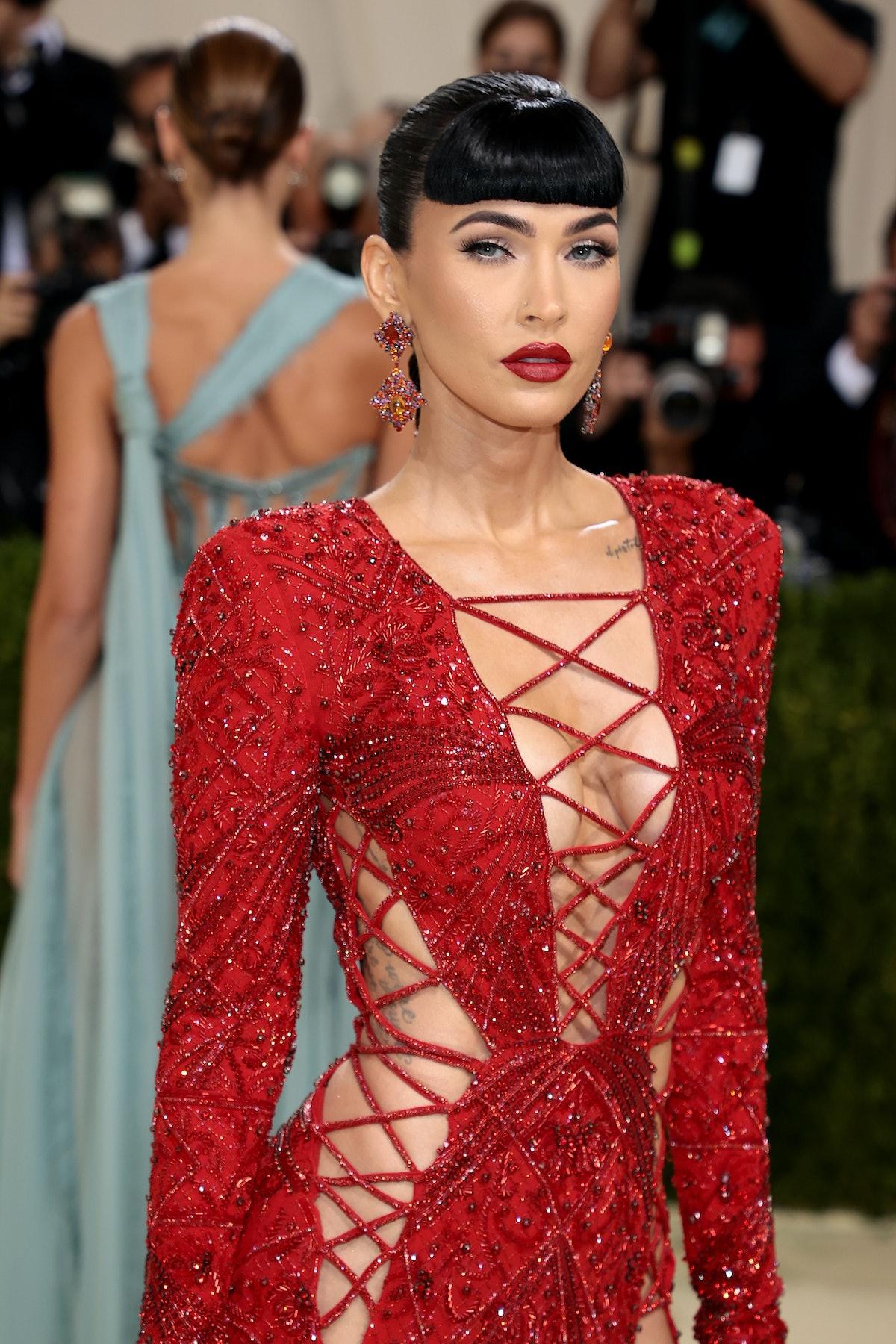Megan Fox wears Dundas to The 2021 Met Gala.
