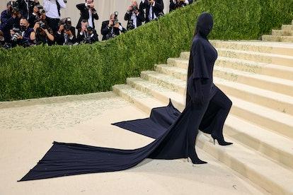 NEW YORK, NEW YORK - SEPTEMBER 13: Kim Kardashian attends The 2021 Met Gala Celebrating In America: ...