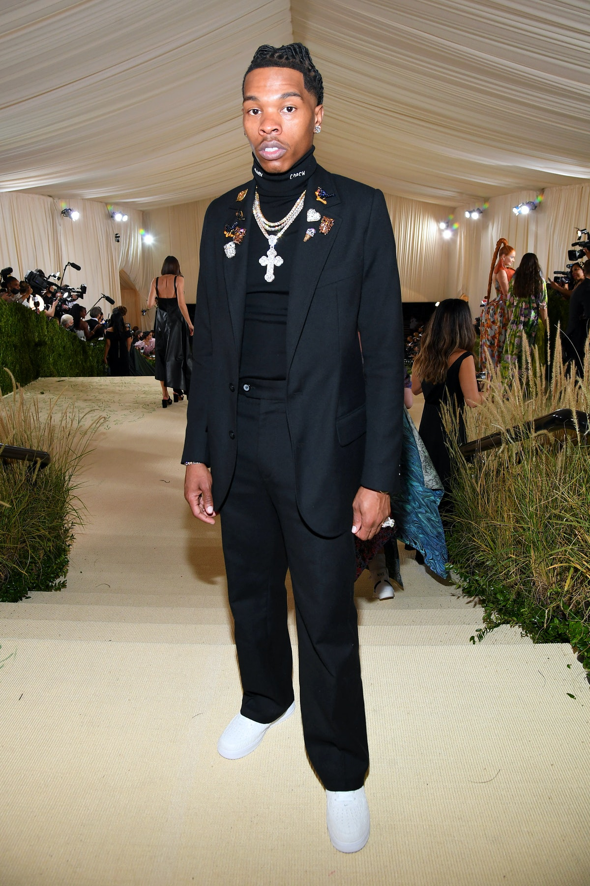 NEW YORK, NEW YORK - SEPTEMBER 13: Lil Baby attends The 2021 Met Gala Celebrating In America: A Lexi...