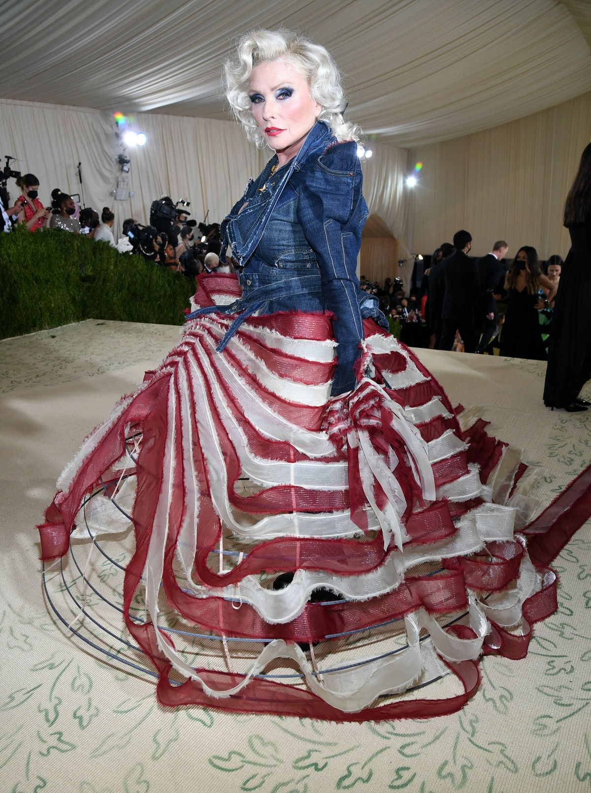 NEW YORK, NEW YORK - SEPTEMBER 13: Debbie Harry attends the The 2021 Met Gala Celebrating In America...