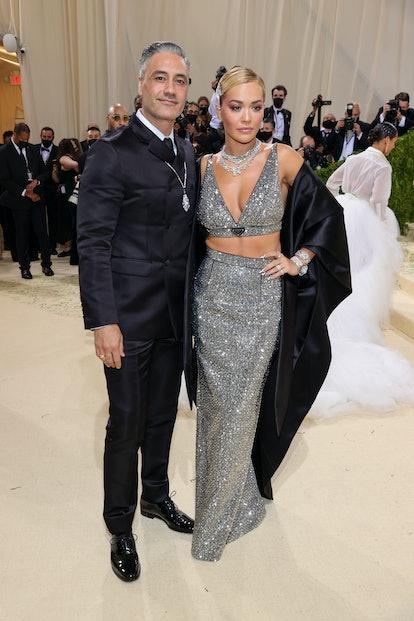 NEW YORK, NEW YORK - SEPTEMBER 13: Taika Waititi and Rita Ora attend The 2021 Met Gala Celebrating I...