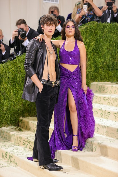 NEW YORK, NEW YORK - SEPTEMBER 13: Shawn Mendes and Camilla Cabello attend The 2021 Met Gala Celebra...