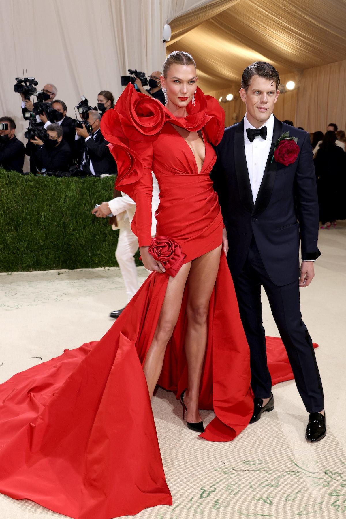 Karlie Kloss and designer Wes Gordon attend The 2021 Met Gala