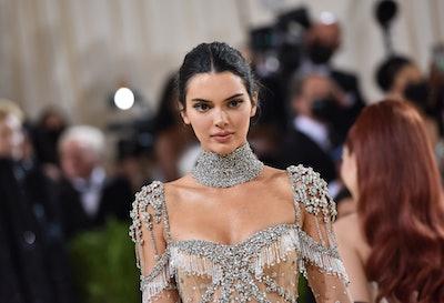 NEW YORK, NEW YORK - SEPTEMBER 13: Kendall Jenner attends 2021 Costume Institute Benefit - In Americ...