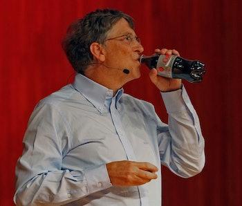 (042110 Cambridge, MA) Philanthropist and Microsoft co-founder Bill Gates speaks at the Massachusett...