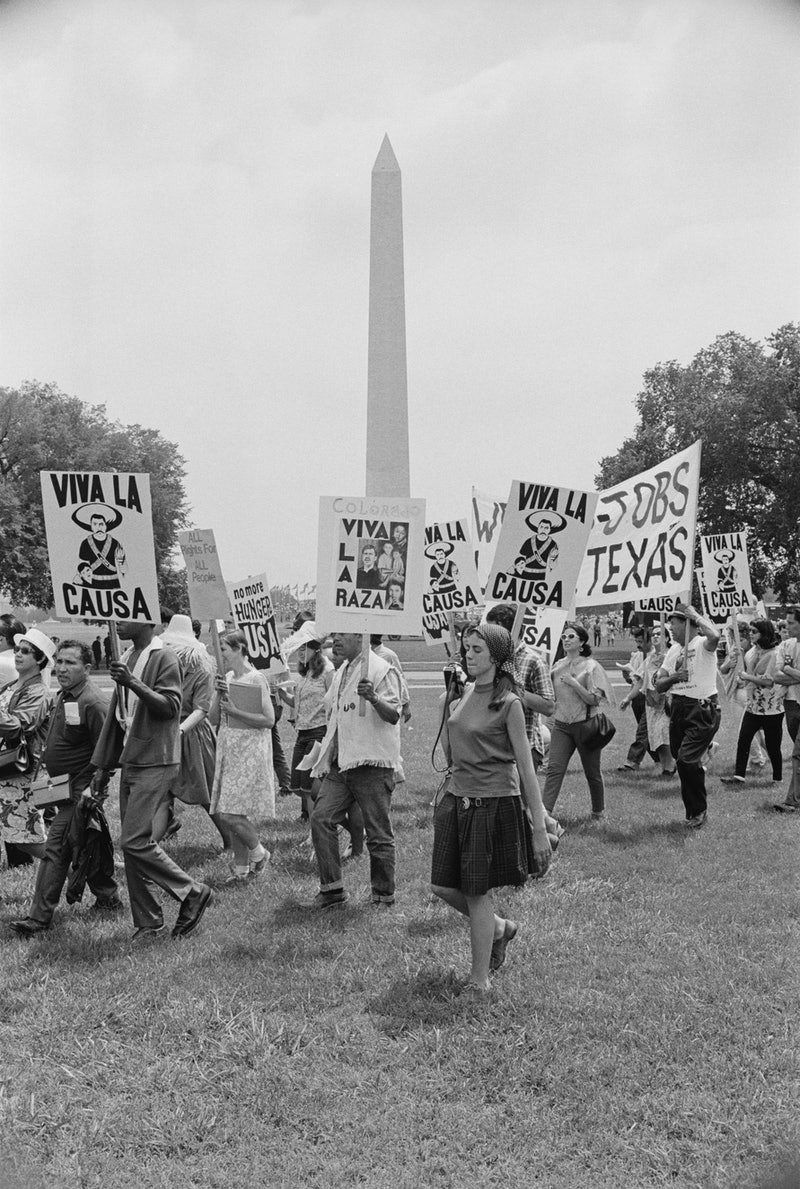 Spanish-speaking protestors on the National Mall in Washington, DC, during the Poor People's Campaig...