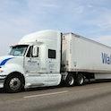 Denver, Colorado, USA - September 23, 2012: A Walmart truck on I-25 outside of Denver, Colorado. Fou...