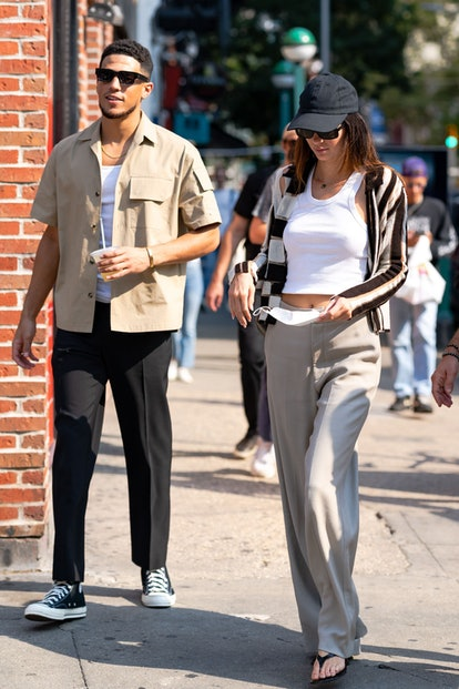 Kendall Jenner and Devin Booker in New York City on Sept. 12, 2021.
