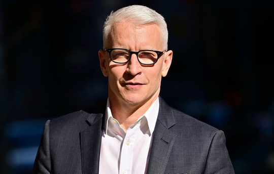 """NEW YORK, NEW YORK - JUNE 16:  Anderson Cooper visits """"The Late Show with Stephen Colbert"""" at the Ed..."""