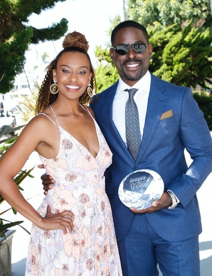 MARINA DEL REY, CALIFORNIA - AUGUST 11: Sterling K. Brown (R) and his wife, Ryan Michelle Bathe, att...