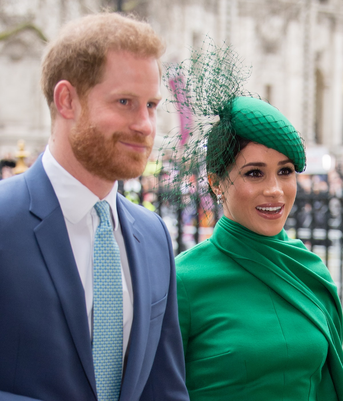 LONDON, ENGLAND - MARCH 09:  Prince Harry, Duke of Sussex and Meghan, Duchess of Sussex attend the C...