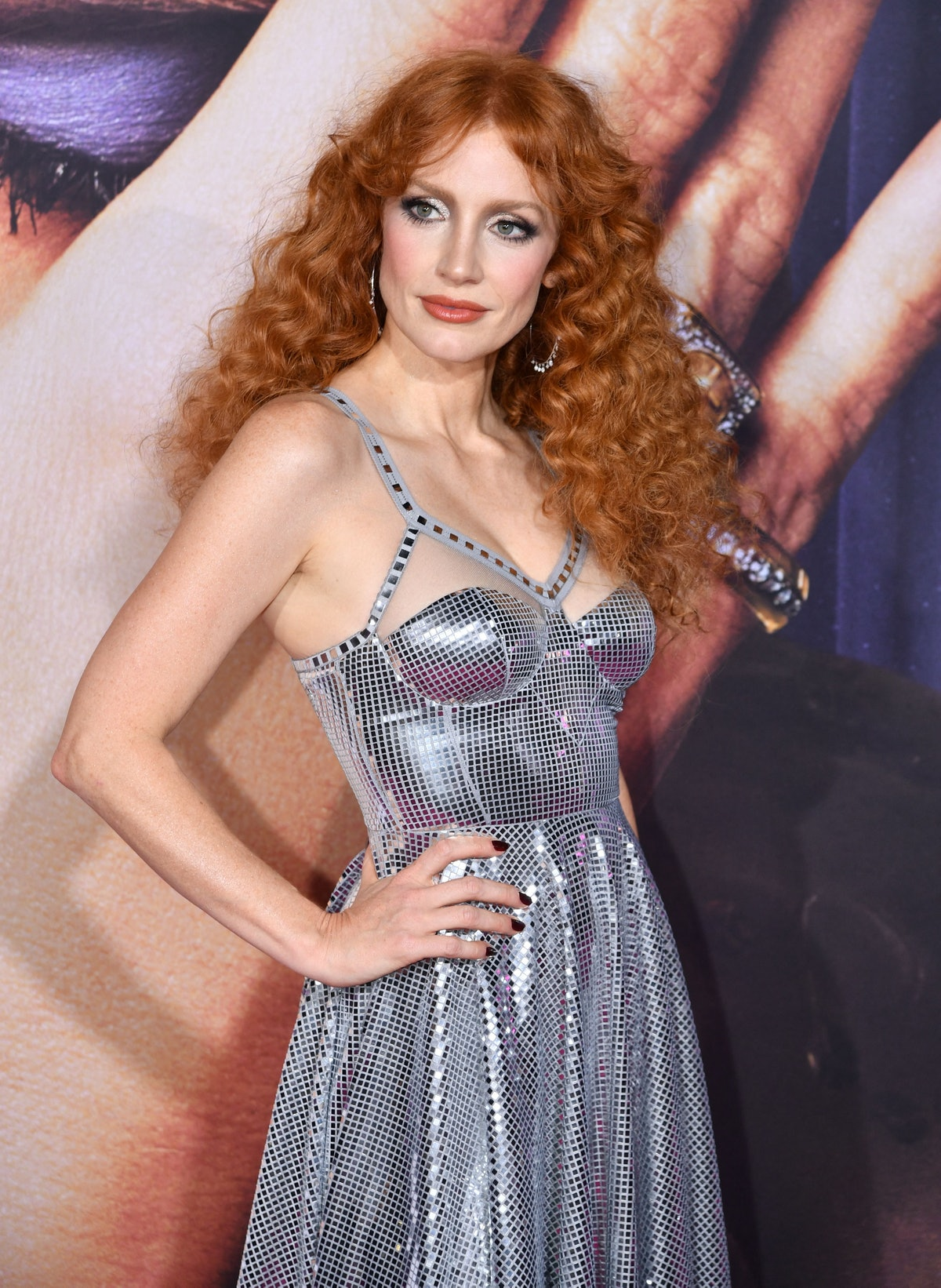 """US actress Jessica Chastain attends """"The Eyes Of Tammy Faye"""" New York Premiere on September 14, 2021..."""