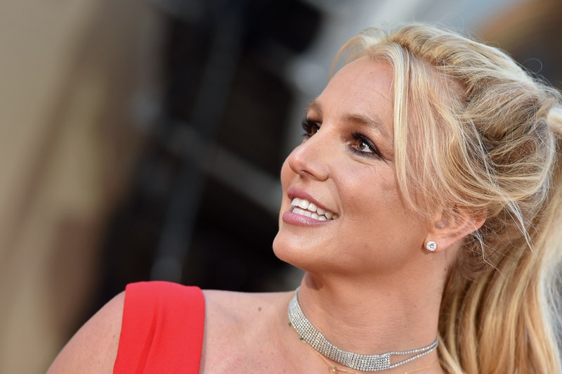 Britney Spears smiling at a film premiere