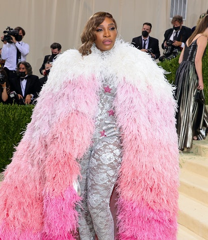 NEW YORK, NEW YORK - SEPTEMBER 13: Serena Williams attends The 2021 Met Gala Celebrating In America:...