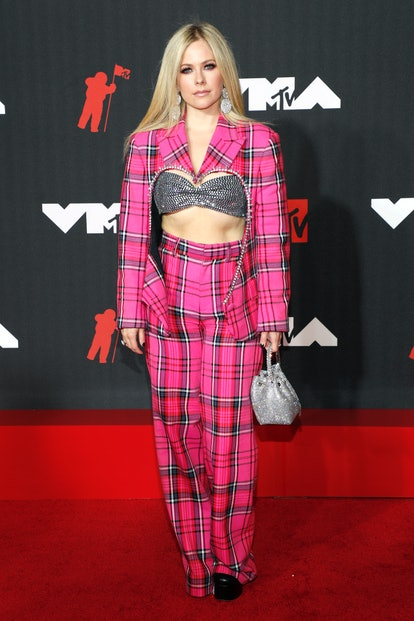 NEW YORK, NEW YORK - SEPTEMBER 12: Avril Lavigne attends the 2021 MTV Video Music Awards at Barclays...