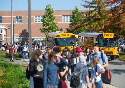 A school bus shortage has seen the National Guard called into help.