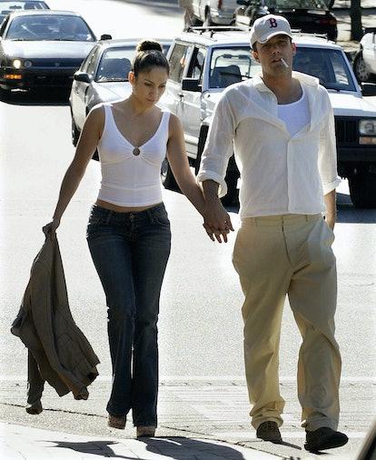 Dress up as Jennifer Lopez and Ben Affleck for Halloween.
