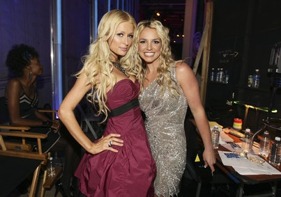 LOS ANGELES, CA - SEPTEMBER 07:  TV Personality Paris Hilton and Singer Britney Spears at the 2008 M...