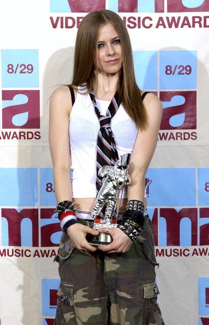 Avril Lavigne, winner of the VMA Best New Artist In A Video at the Radio City Music Hall in New York...