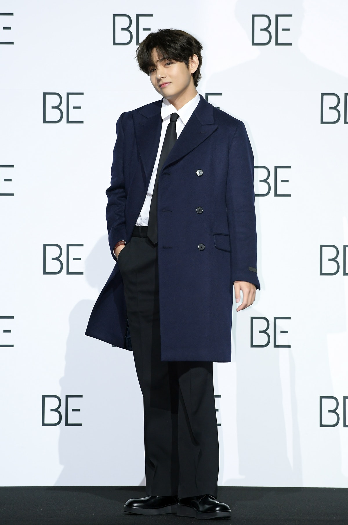 SEOUL, SOUTH KOREA - NOVEMBER 20: V of BTS during BTS's New Album 'BE (Deluxe Edition)' Release Pres...