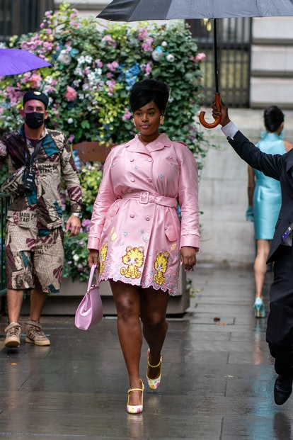NEW YORK - SEPTEMBER 09: Precious Lee is seen walking to the runway at the Moschino by Jeremy Scott ...