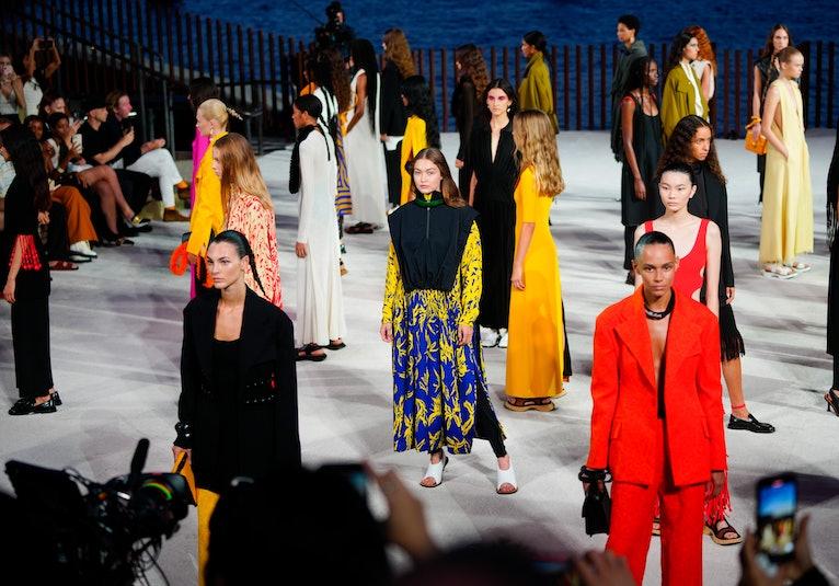 NEW YORK, NEW YORK - SEPTEMBER 08:  Gigi Hadid is seen as she walks the runway for Proenza Schouler ...