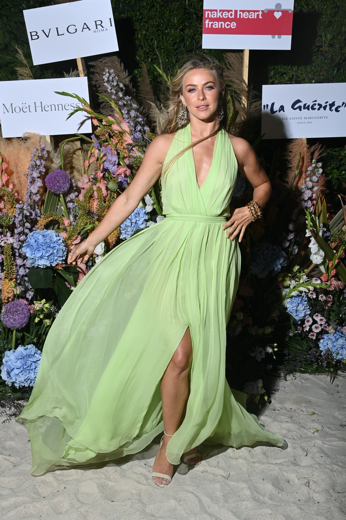 CANNES, FRANCE - JULY 13: Julianne Hough attends the Naked Heart France Riviera Dinner 2021 during t...