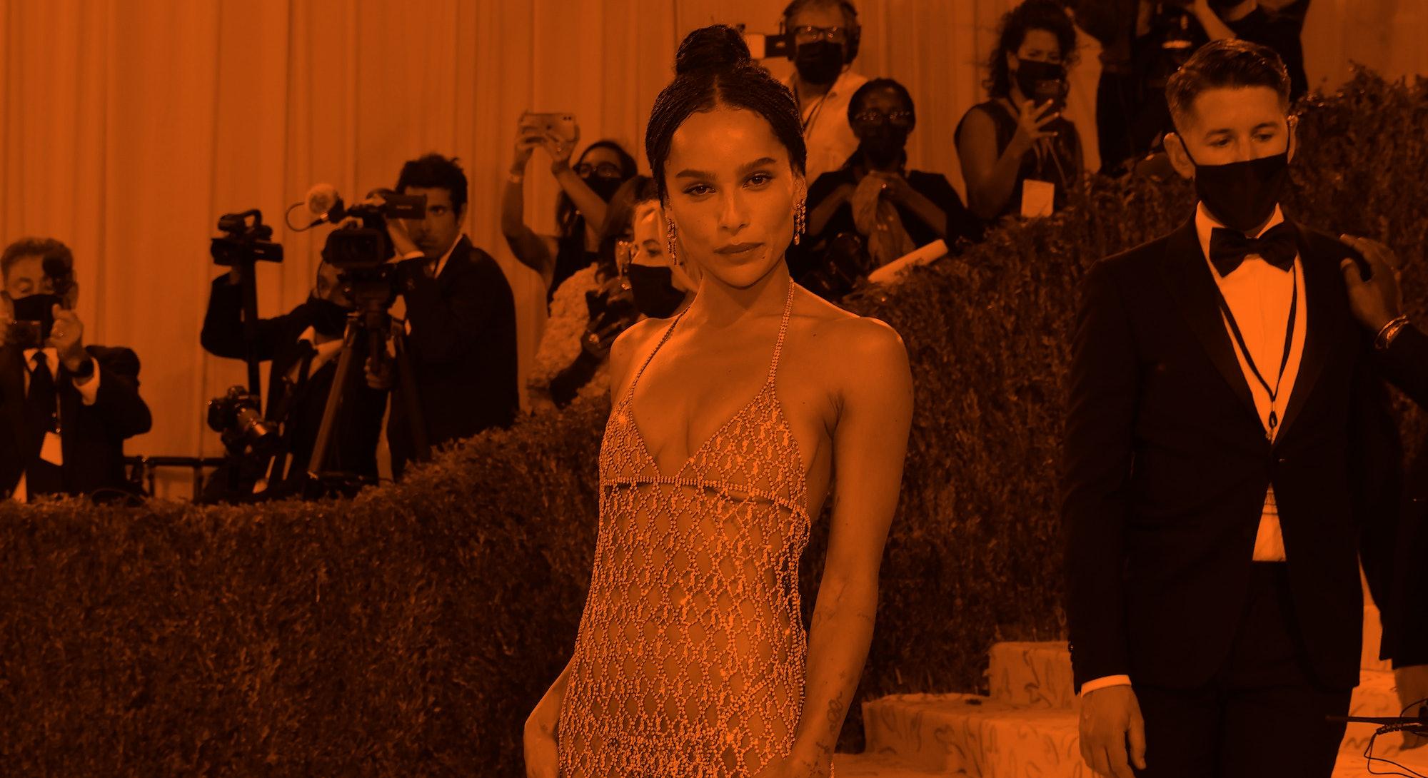 "NEW YORK, NEW YORK - SEPTEMBER 13: Zoe Kravitz attends the 2021 Met Gala benefit ""In America: A Lexi..."