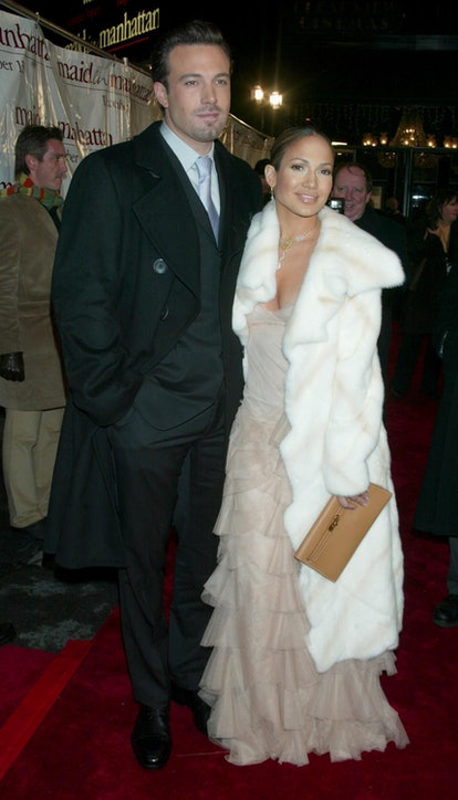 Dress up as Jennifer Lopez and Ben Affleck at the Maid in Manhattan movie premiere for Halloween.