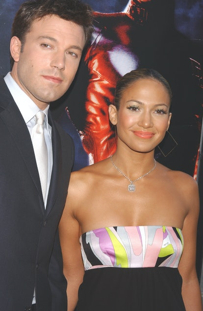 Dress up as Jennifer Lopez and Ben Affleck at the Daredevil movie premiere for Halloween.