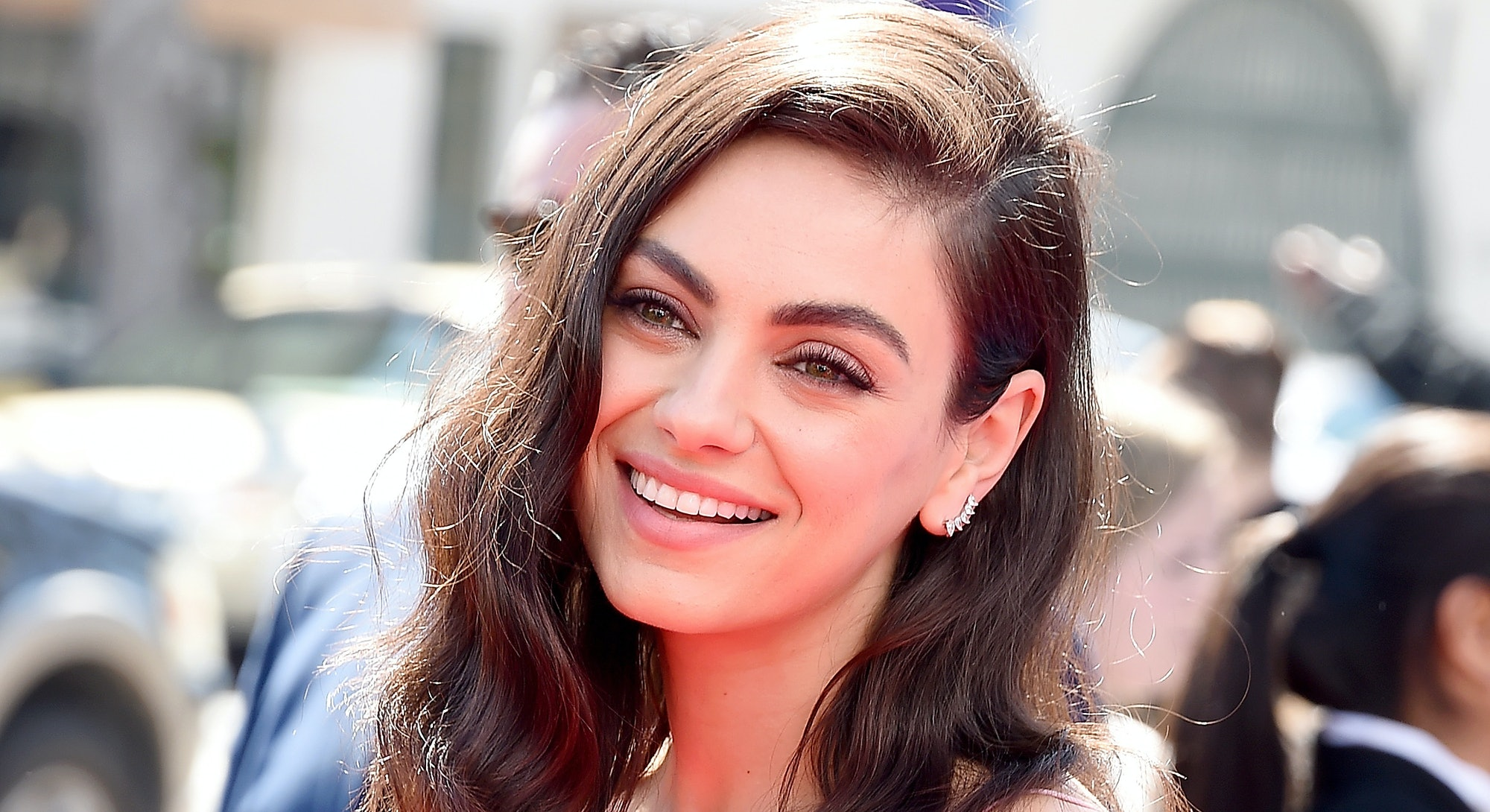 """LOS ANGELES, CA - MARCH 10:  Mila Kunis attends the Premiere Of Paramount Pictures' """"Wonder Park"""" at..."""