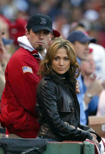 Dress like Ben Affleck and Jennifer Lopez at the Boston Red Sox game for Halloween.
