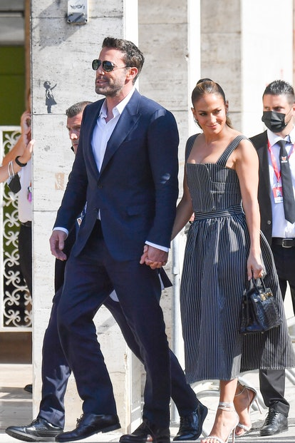 Dress like Jennifer Lopez and Ben Affleck aboard a water taxi in Venice for Halloween.