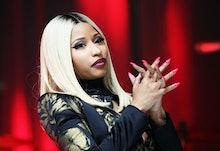 NEW YORK, NY - AUGUST 22:  Nicki Minaj onstage at the 2013 BMI R&B/Hip-Hop Awards at Hammerstein Bal...