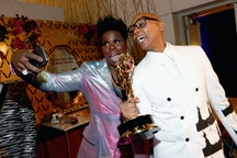 Leslie Jones and RuPaul after the 2018 Emmys.