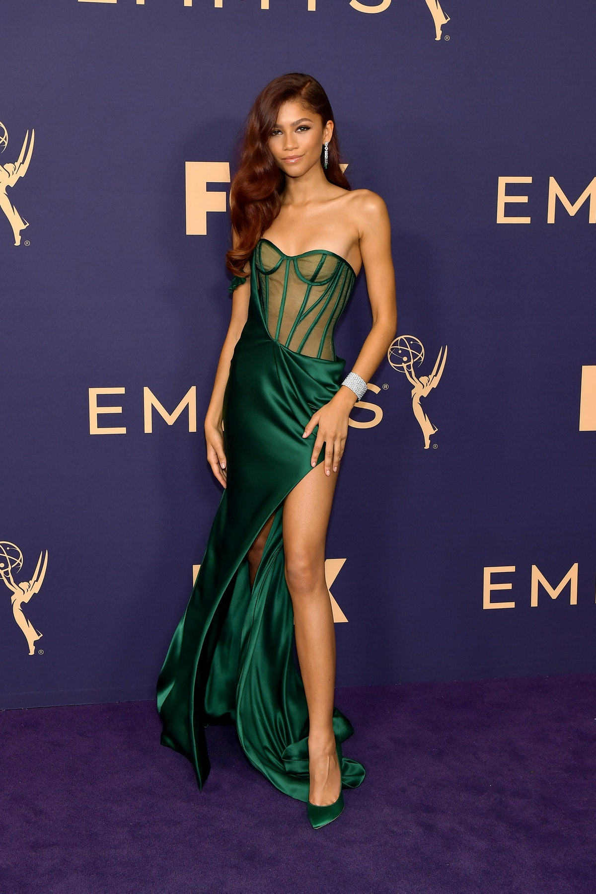 LOS ANGELES, CALIFORNIA - SEPTEMBER 22: Zendaya attends the 71st Emmy Awards at Microsoft Theater on...