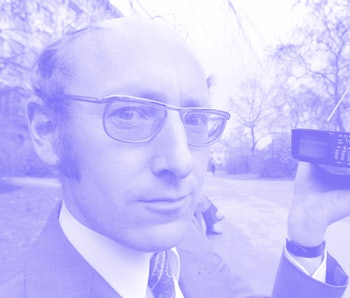 Sinclair Radionics. Managing Director of Sinclair Radionics, Mr. Clive Sinclair holding the world's ...