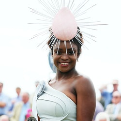 Pamela Uba from Galway, winner of the Best Dressed Lady competition during day four of the 2019 Summ...