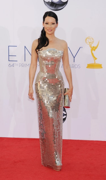 LOS ANGELES, CA - SEPTEMBER 23: Lucy Liu  arrives at the 64th Primetime Emmy Awards at Nokia Theatre...